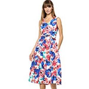 $168 NWT Calvin Klein | A-Line Floral Dress